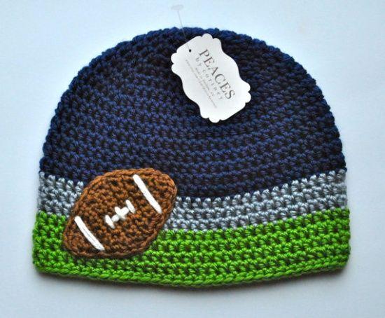 Football Baby Hat - Navy Blue 2d2229965