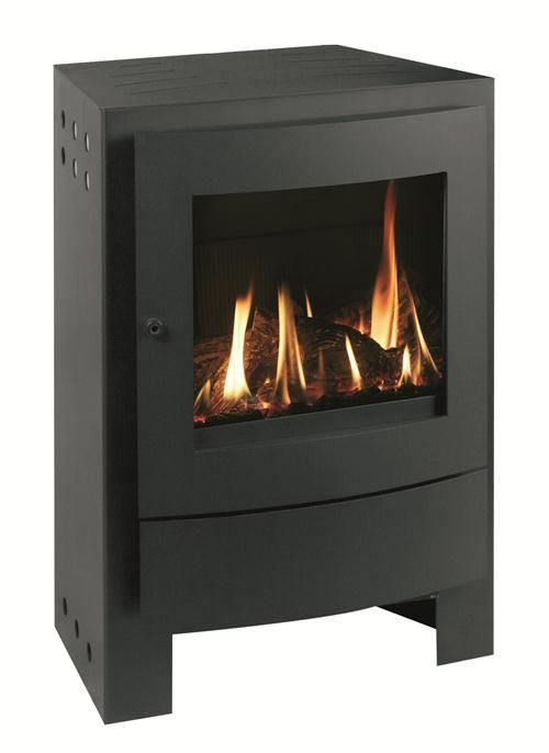 Contemporary Freestanding Fireplace from Max Blank Model Nestor