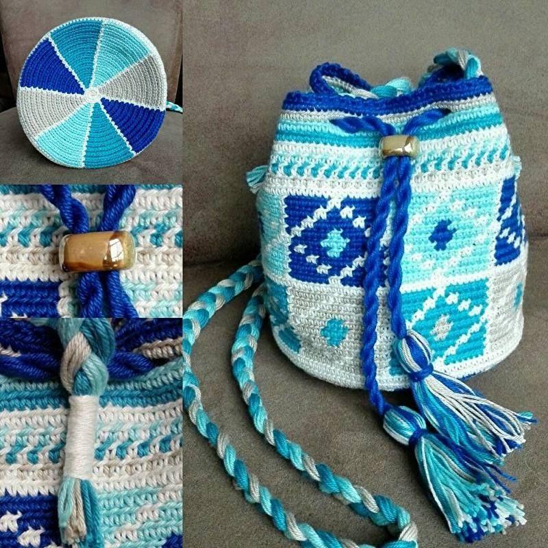 f863597b034 INI.....het kleine zusje van MINI :-) Aqua Haakpakket | tassen ...