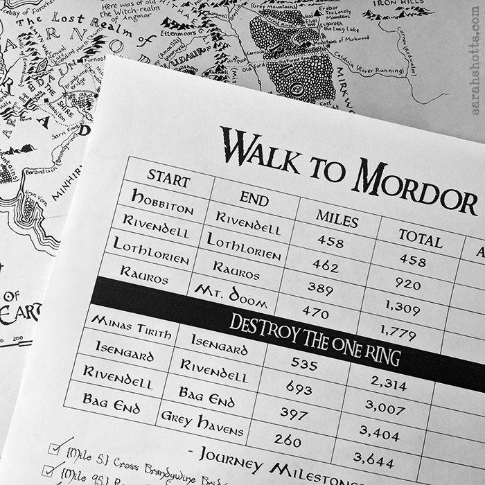 Walk to Mordor Challenge