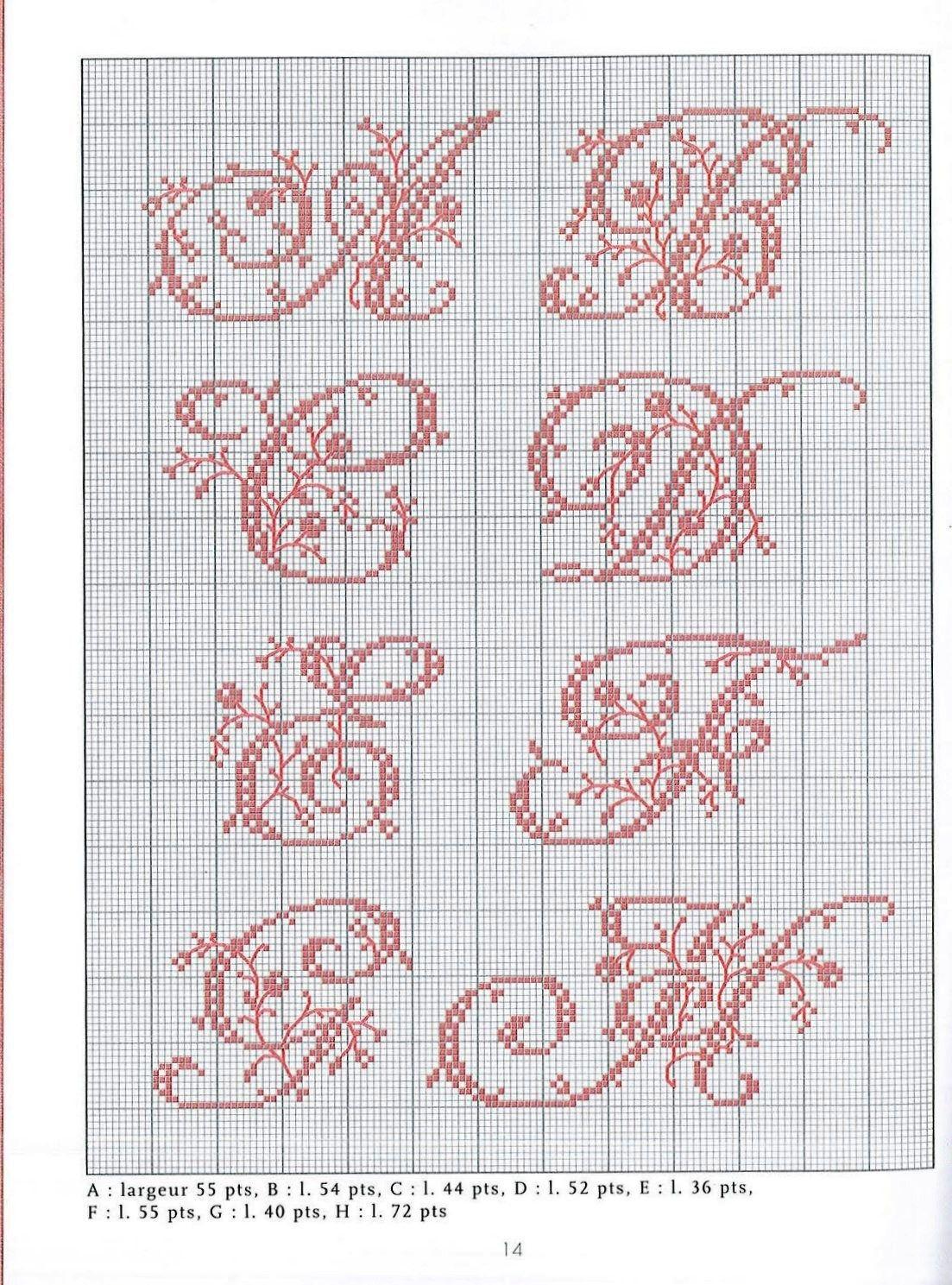 Belles Lettres Point De Croix Gratuit : belles, lettres, point, croix, gratuit, Belles, Lettres, Cross, Stitch, Alphabet, Patterns,, Fonts,