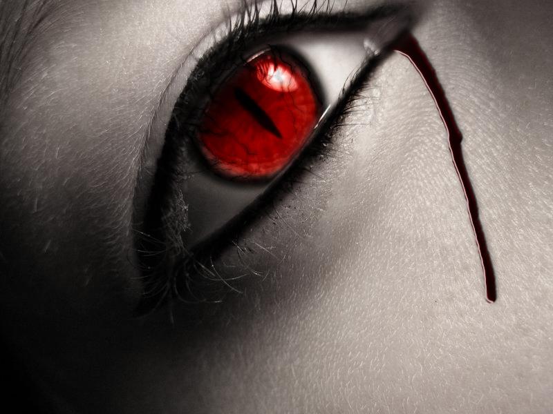 Crying Demon Red Cats Eye Crying Eyes Eyes Wallpaper