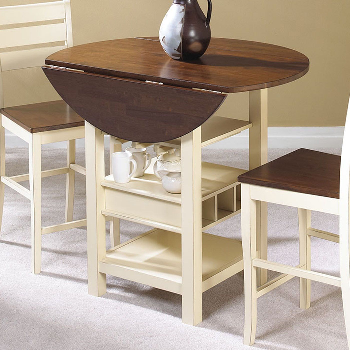 Sunset Trading Cr A7007 68 Cascade Pub Table In Cream