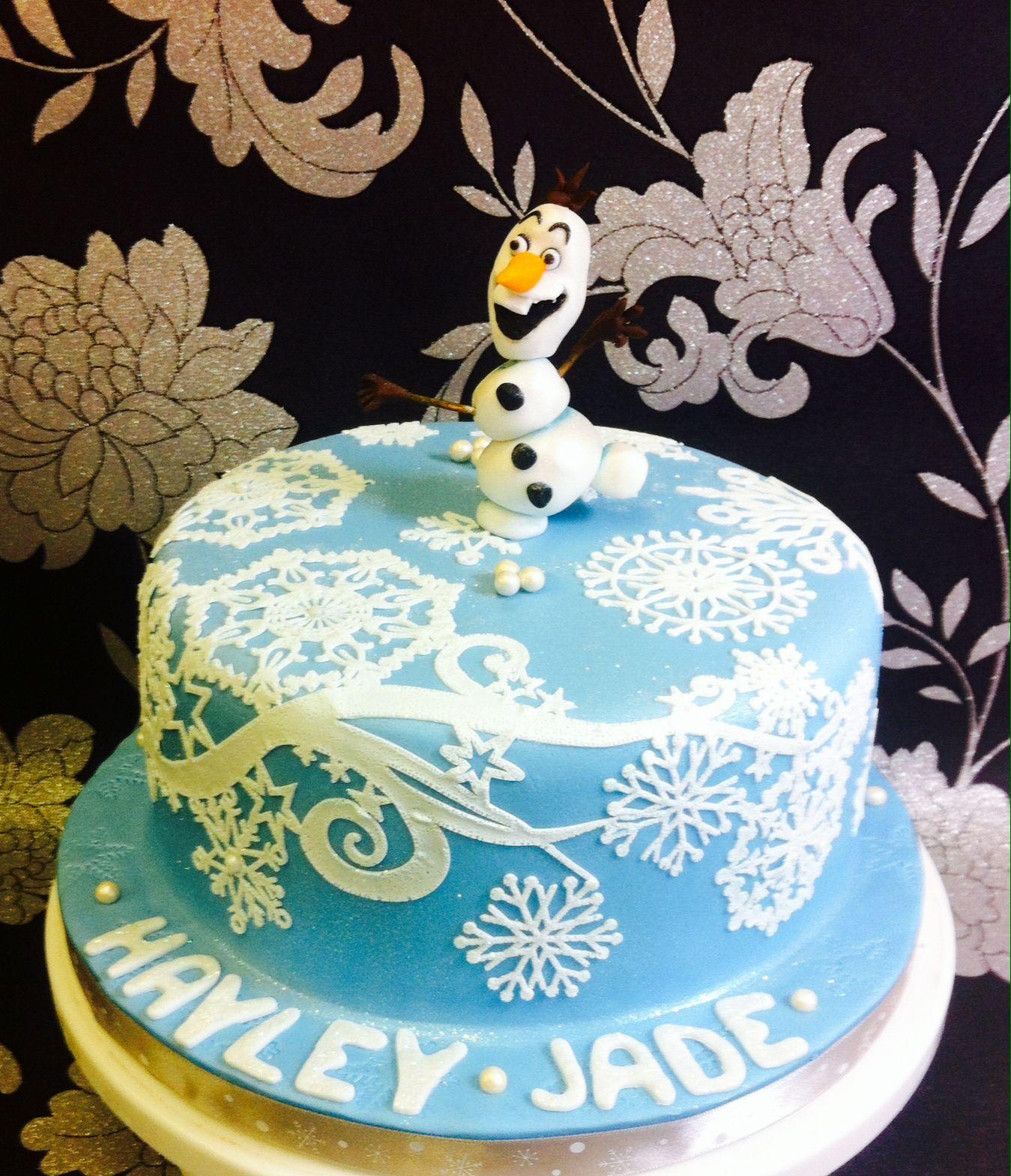 Frozen cake design images  Frozen  Olaf cake  bellas birthday cake ideas  Pinterest  Olaf