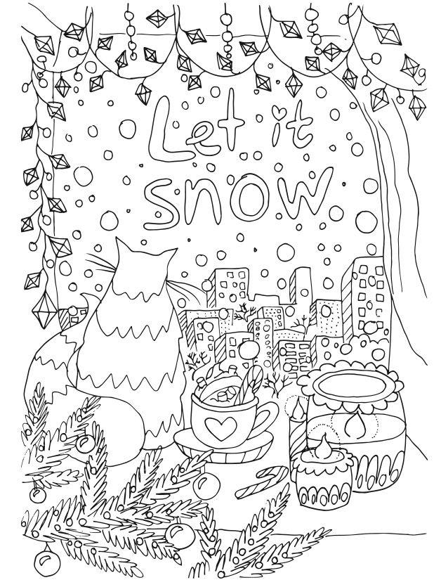 christmas coloring book for adults 2 - Christmas Coloring Books For Adults