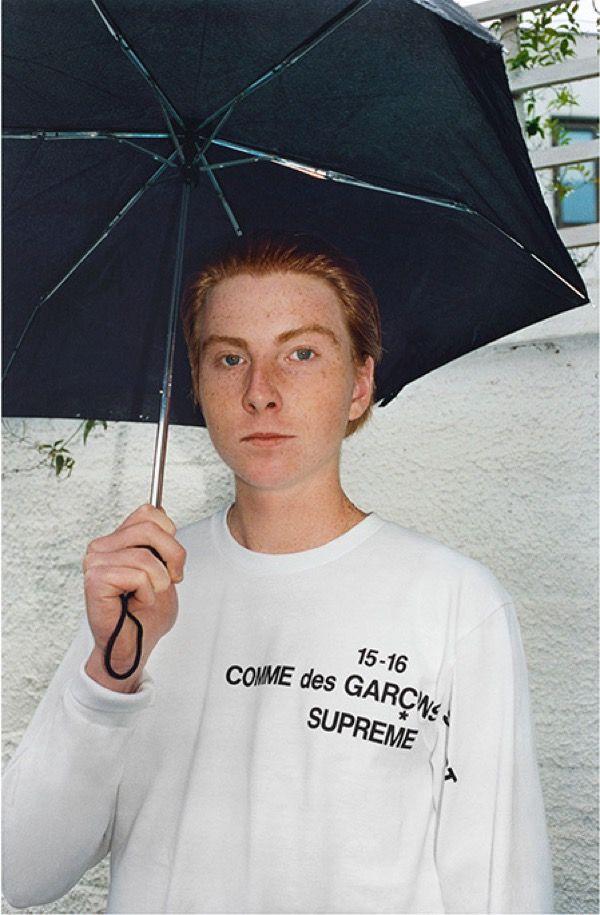 シュプリームxコム デ ギャルソン・シャツ 新作にダブルネームロゴ | Fashionsnap.com
