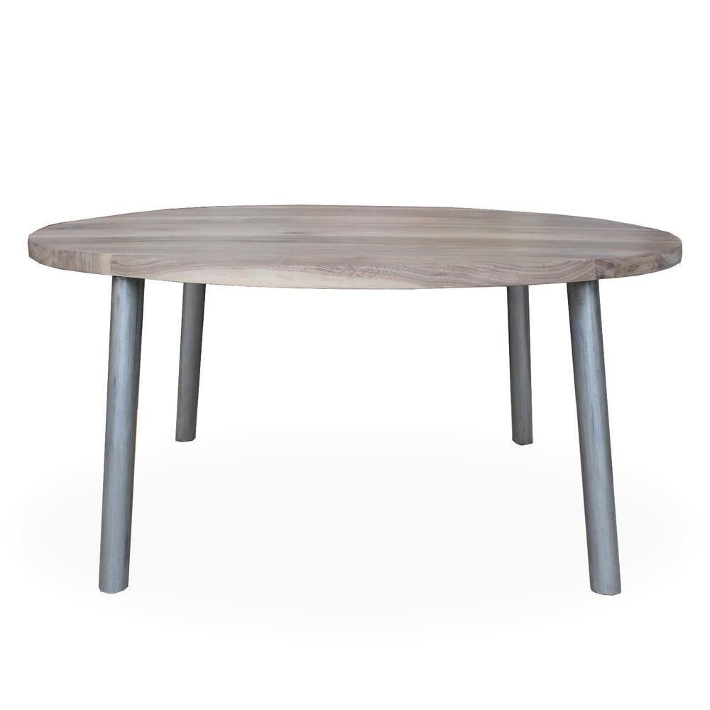 Round Walnut Wood And Metal Coffee Table Round Tube Steel Legs Jw Atlas Wood Co Round Metal Coffee Table Coffee Table Metal Coffee Table [ 1000 x 1000 Pixel ]