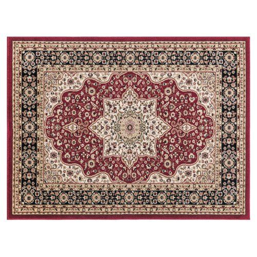 Three Posts This Red/Beige Rug is very light making it easy to place it in a different room. Due to its soft touch texture polypropylene, this rug is also very easy to clean. Made following the fair-trade principles, these rugs add a touch of elegance to your home decor. They are made using premium quality synthetic fibres which are to offer strength, softness and beauty. Rug Size: Rectangle 80 x 150cm