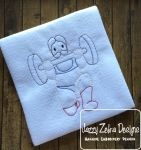 Circus Strong Man Colorwork Embroidery Design