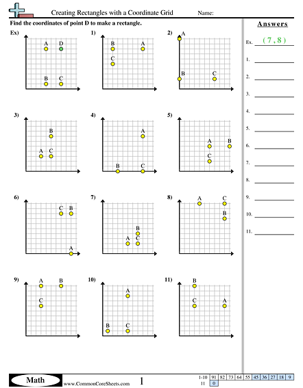 Grid Worksheets Creating Rectangles With A Coordinate Grid Worksheet Math Grid Coordinate Graphing Worksheets