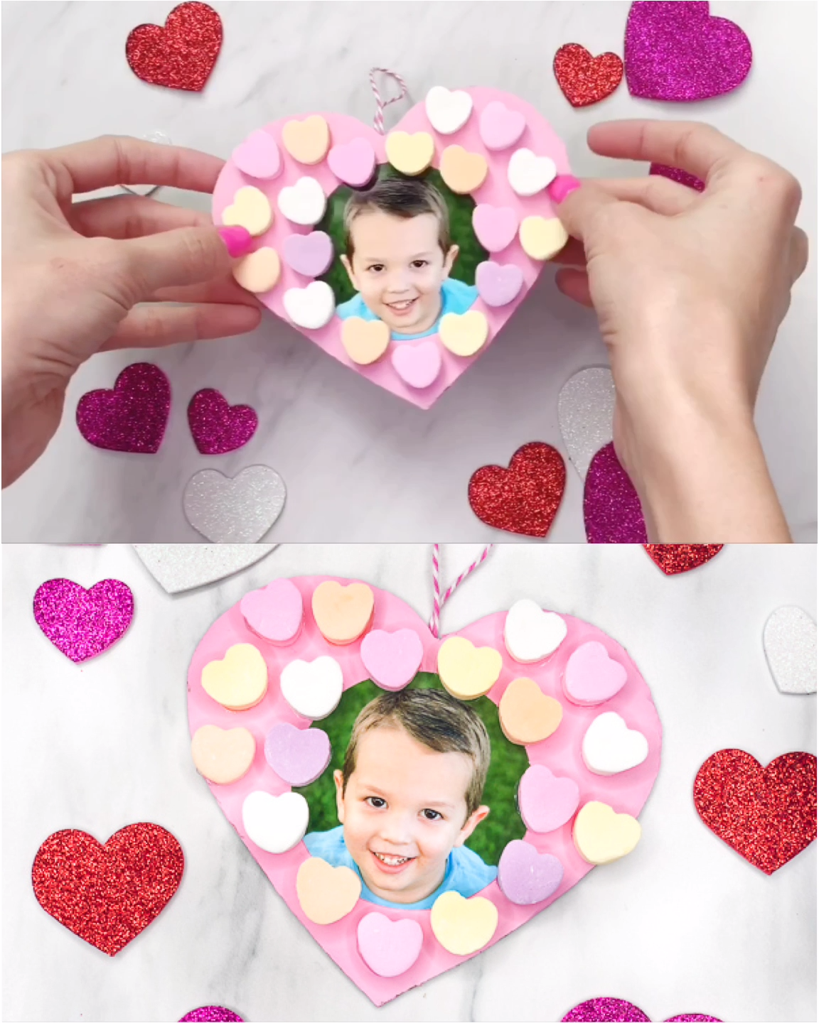 Candy Heart Valentine Craft For Kids In