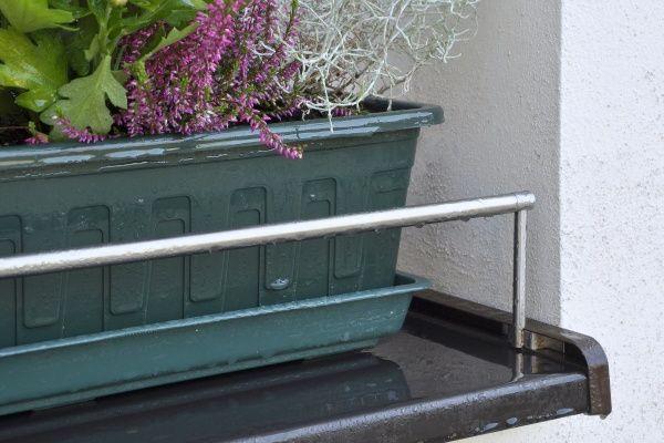 Blumenkastenhalterung für die Tropfkante Edelstahl 1500 mm ...