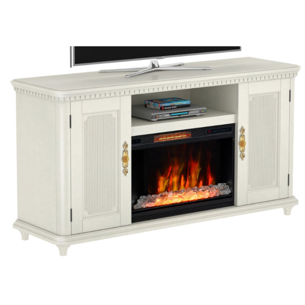 Tv Stand With Optional Classicflame Electric Fireplace 26cm7541