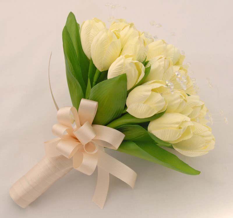 Bridal Ivory Artificial Silk Spring Tulip U0026amp Crystal Wedding Tulips Flowers Ideas 800x751