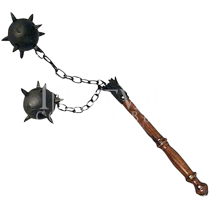 medieval flail | Medieval Two Ball Flail - ED4626 by Medieval Collectibles