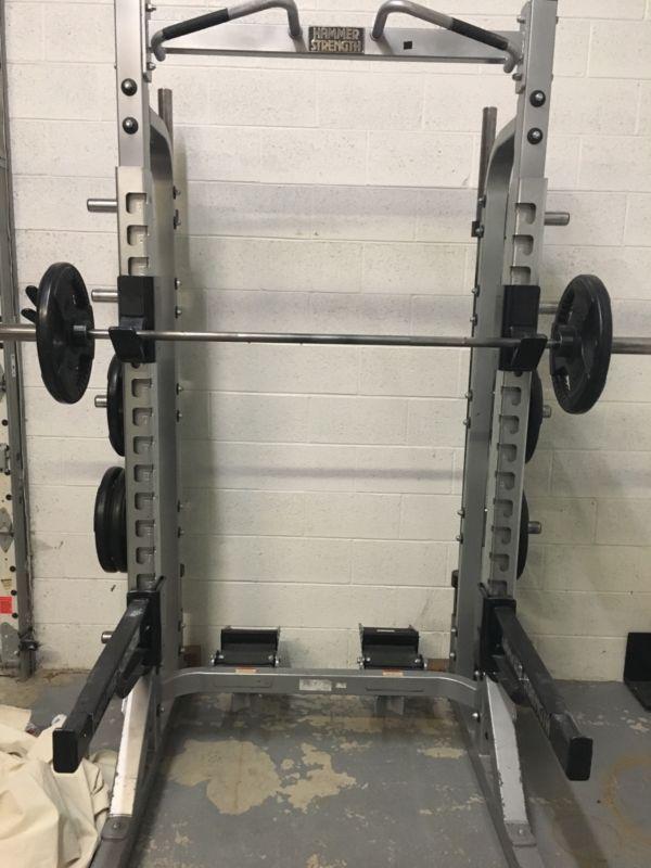 Hammer Strength Power Rack, Squat rack commercial gym