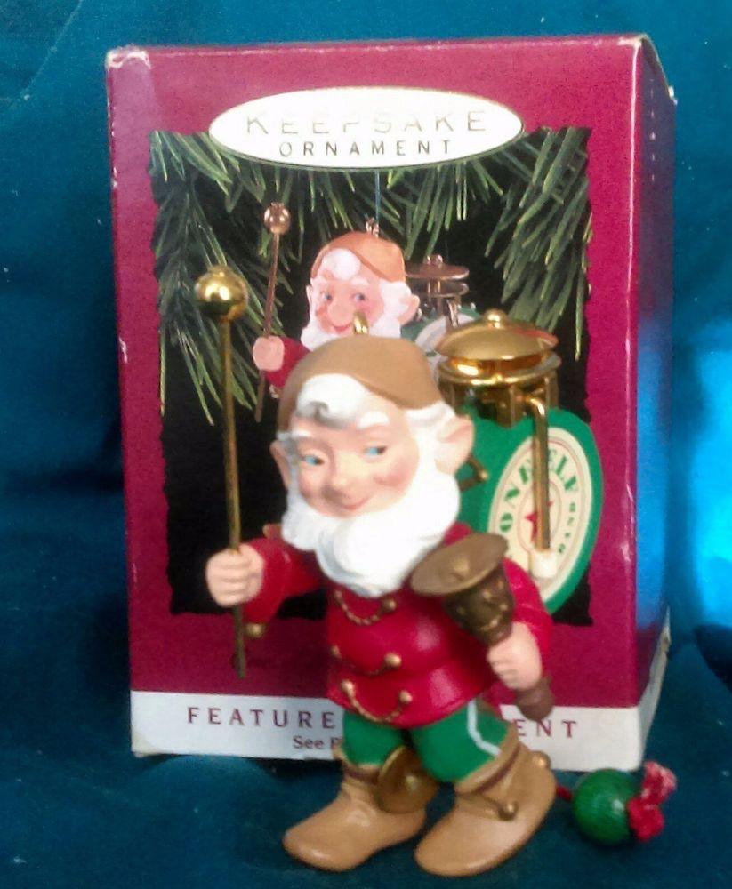 Marching Band Christmas Ornaments Part - 37: Vintage: Hallmark Keepsake Christmas Ornament ONE ELF MARCHING BAND 1993 NM