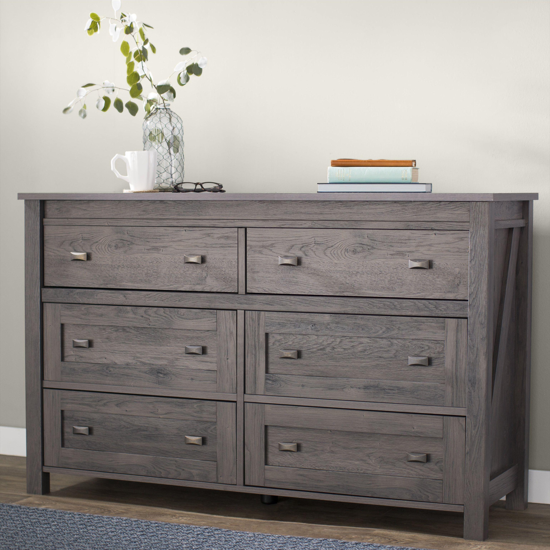 Three Posts Minchinhampton 6 Drawer Double Dresser Double Dresser Bedroom Furniture Dresser Furniture [ 3073 x 3077 Pixel ]