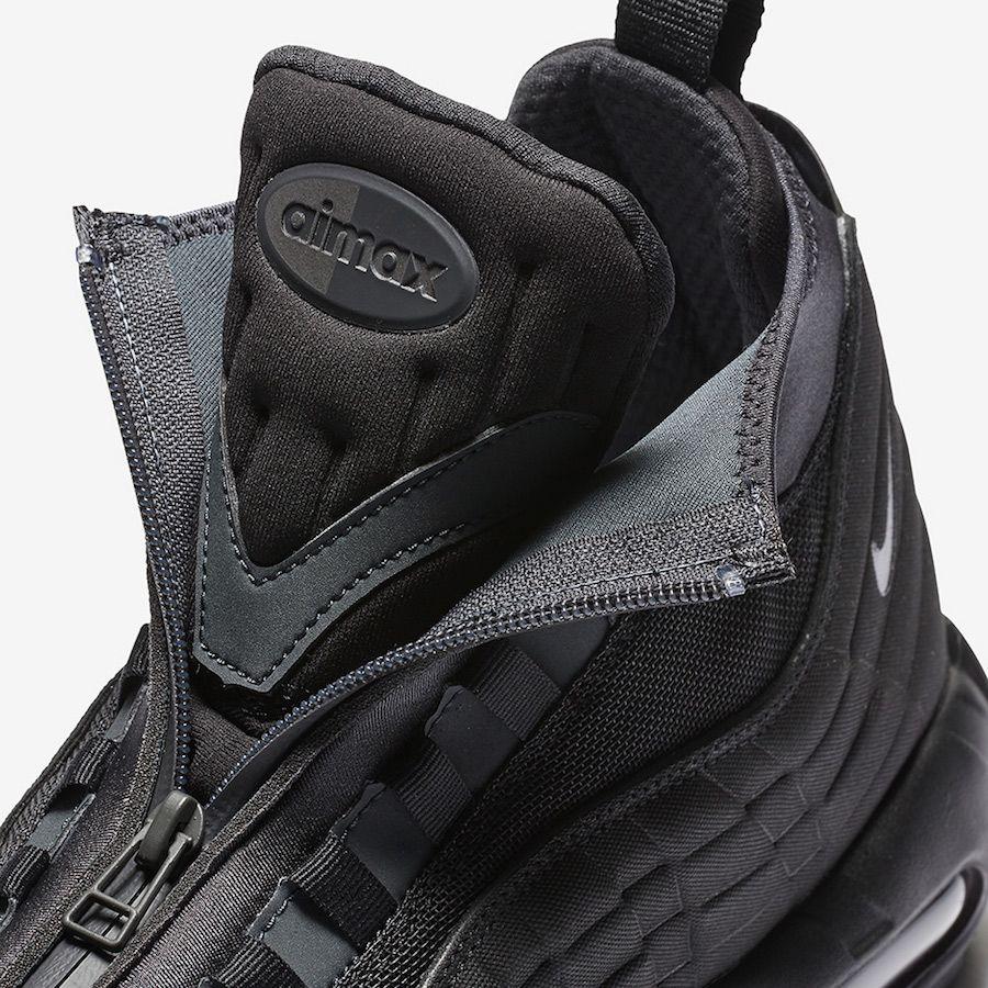 c523bf1239d0 Nike Air Max 95 Sneakerboot Triple Black 806809-001