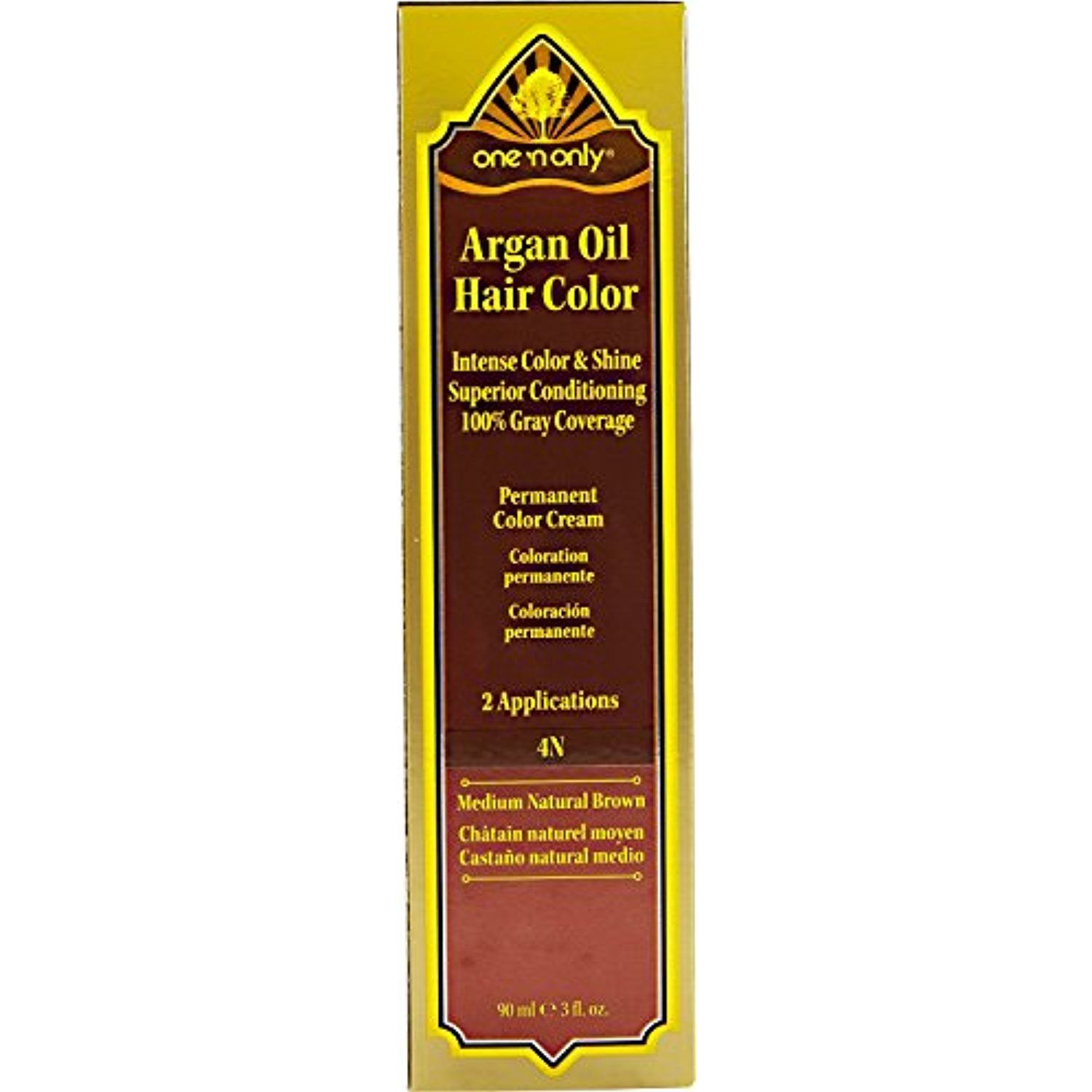 One N Only Argan Oil Hair Color 4n Medium Natural Brown Click