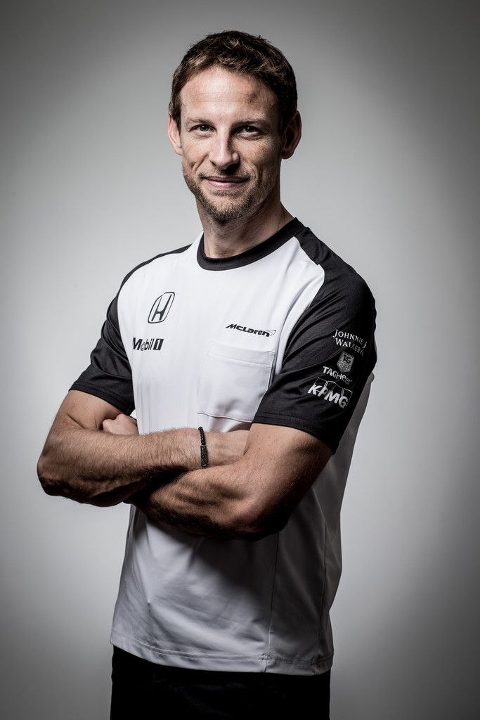 (EXCLUSIVE COVERAGE; EDITORIAL ONLY) McLaren-Honda driver Jenson Button poses for photographs in a portrait session at the Honda Motor Co. headquarters on February 10, 2015 in Tokyo, Japan. Honda Motor Co., Ltd. held a press conference in the run-up to the Australian Grand Prix of the FIA Formula One World Championship (F1) happening in March 13-15, 2015. McLaren-Honda drivers Fernando Alonso and Jenson Button expressed their enthusiasm for the first race.