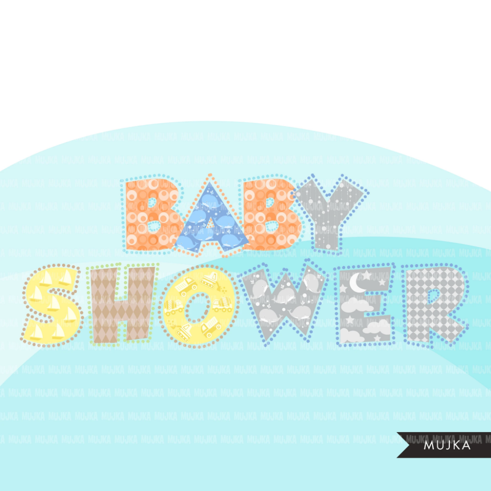 Baby Boy Alphabet Clipart Dotted Lines Stackable Boy Birthday Baby Shower Letters And Numbers Png Graphics Clip Art Scrapbooking Set Alphabet Clipart