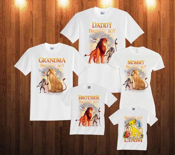 Lion King Birthday Shirt Custom personalized shirts for all family ... 3375d6b16cbca