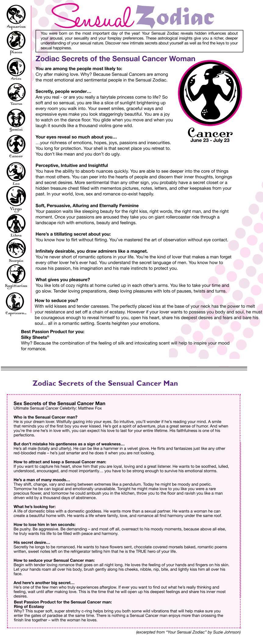 Sensual Cancer Womanman  Cancer Zodiac  Zodiac Signs -4500