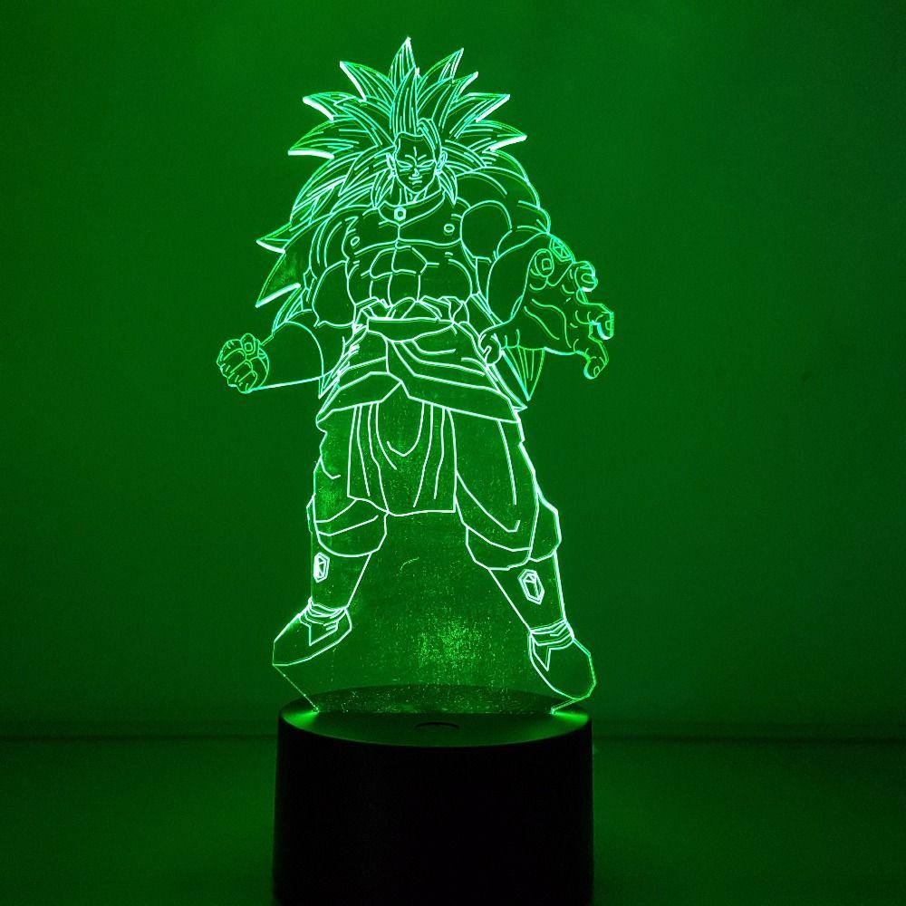 Dragon Ball Broly Visual Illusion Led 3d Nightlight 7 Color