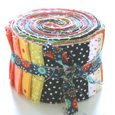 """Jelly Roll - Punkte - 20 verschiedene Stoffe, Stoffzusammenstellung variiert - 20 x (2,5"""" x 43"""" - ~ 6,35 cm x 110 cm)  aq-180-1068"""