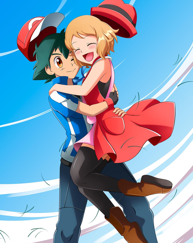 Ash X Serena Amourshipping Day By Bicoitor On Deviantart Pokemon Ash And Serena Pokemon Pokemon Characters