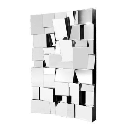 Fractal Mirror Mirror Wood Mirror Wall
