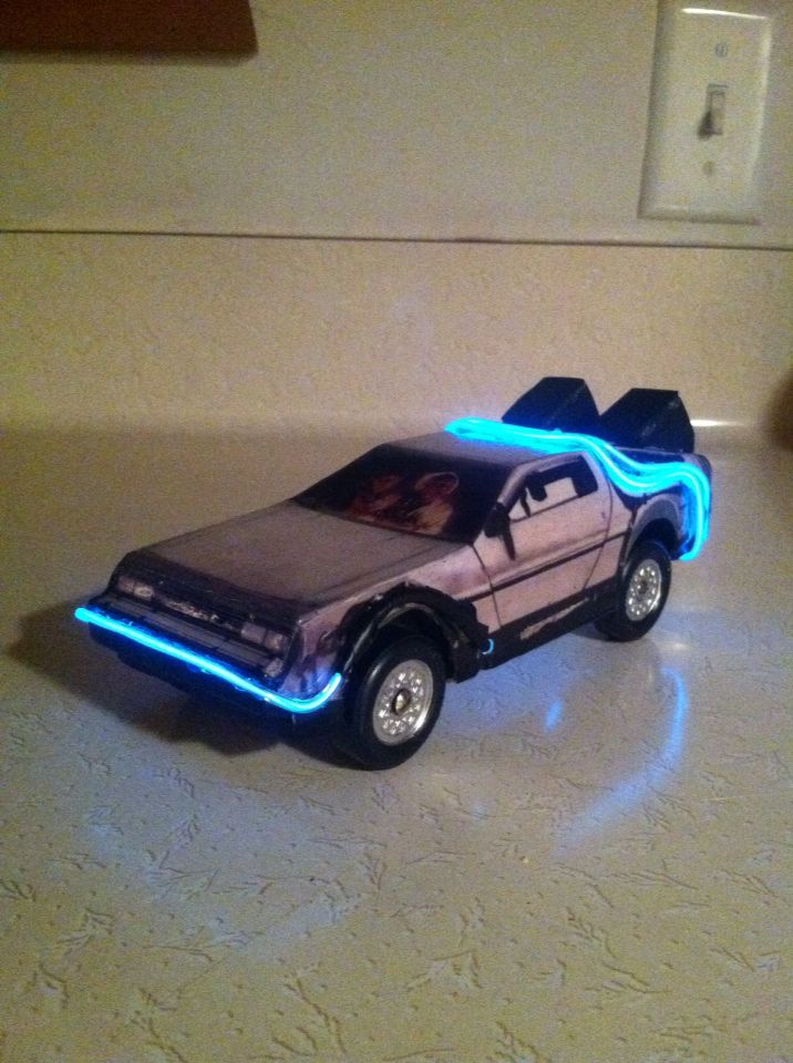kub car templates - delorean time machine pinewood derby car pinewood derby