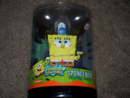 2003 Nickelodoen Spongebob Squarepants 3 Collectible Figure - Fry Cook with Krusty Krab Hat - By App @ niftywarehouse.com #NiftyWarehouse #Spongebob #SpongebobSquarepants #Cartoon #TV #Show