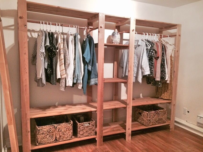Ana White Industrial Wood Closet System Diy Projects Closet