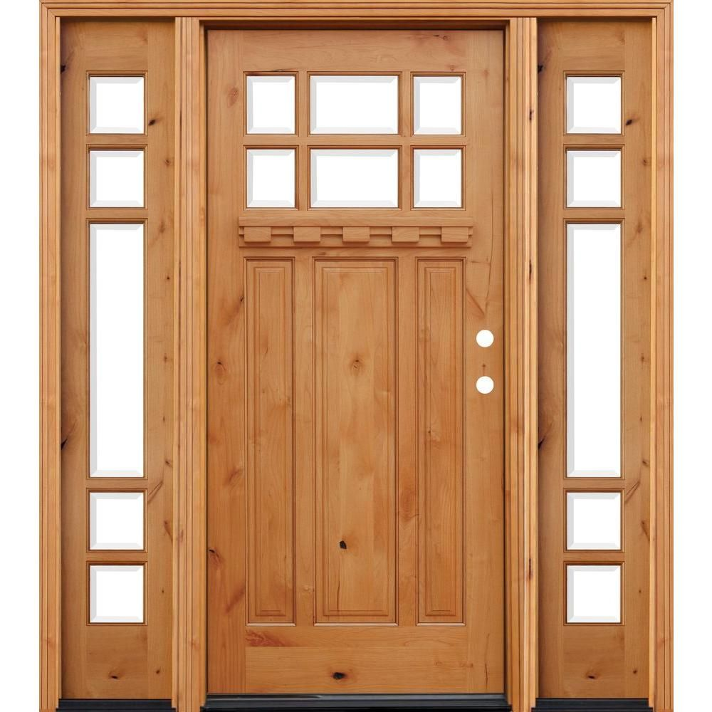 Pacific Entries 70inx80in Craftsman 6 Lt Stained Knotty Alder Wood