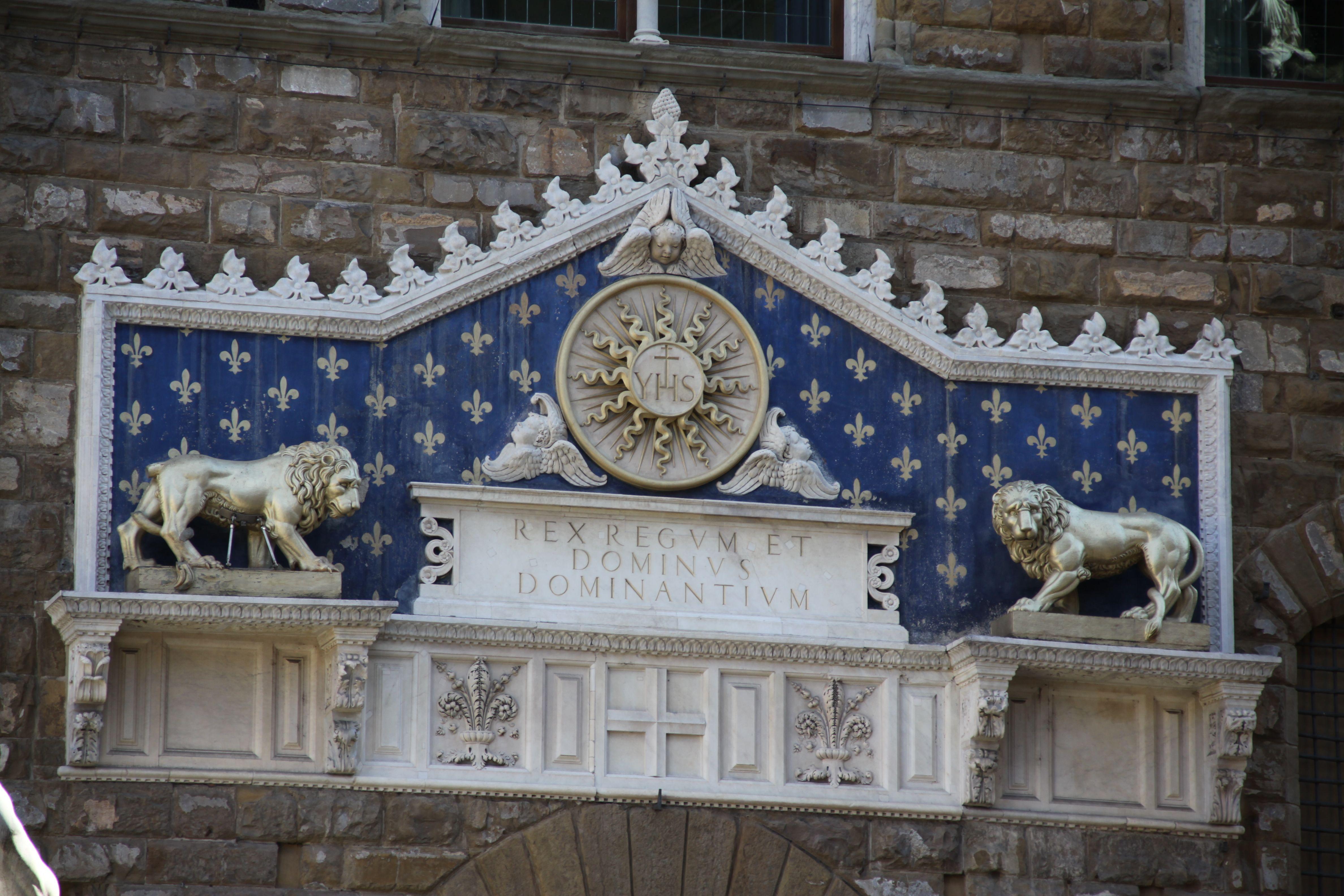 Palazzo Vecchio portal detayı...
