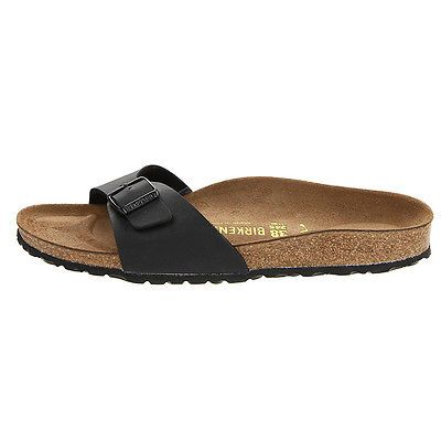 Birkenstock Madrid Womens 040793-BLACK Cork Birko-Flor Sandals Wmns Size 36