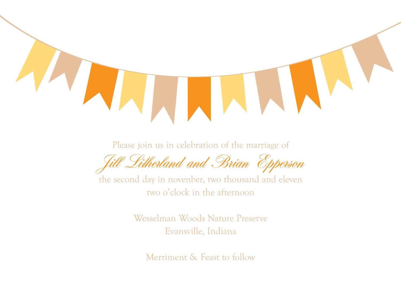 Bunting Wedding Invitation