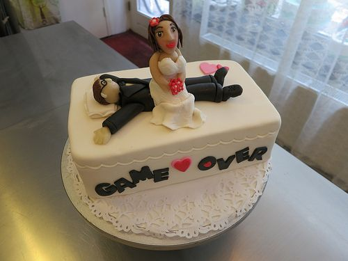 Game Over Bachelorette Party Cake A Photo By Cake Amsterdam Cakes Bachelorette Party Cake Wedding Cakes With Cupcakes Cake