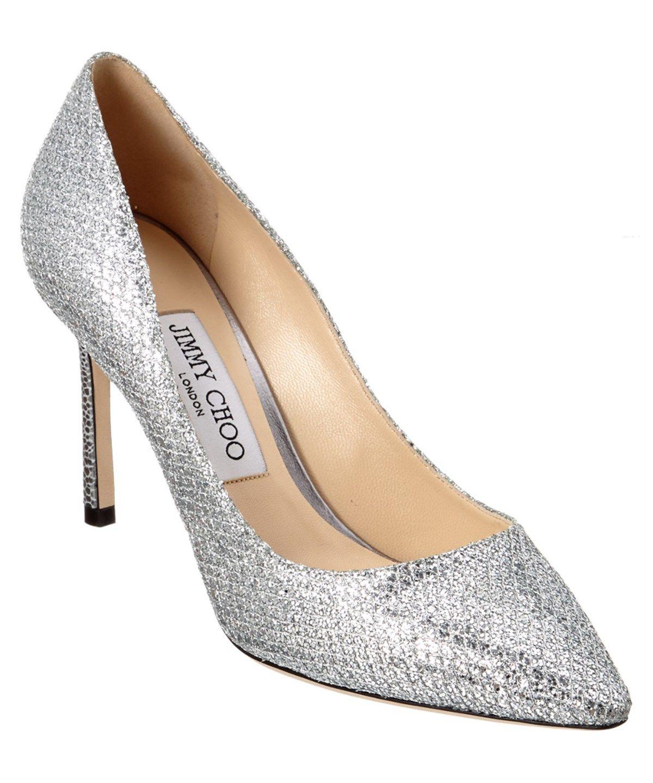 51069b3bf54 JIMMY CHOO Jimmy Choo Romy 85 Glitter Fabric Pointy-Toe Pump .  jimmychoo   shoes  pumps   high heels
