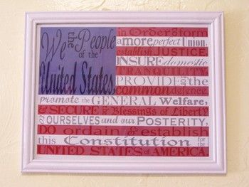 image regarding Preamble Printable identified as American Flag with the preamble towards the Consution--totally free