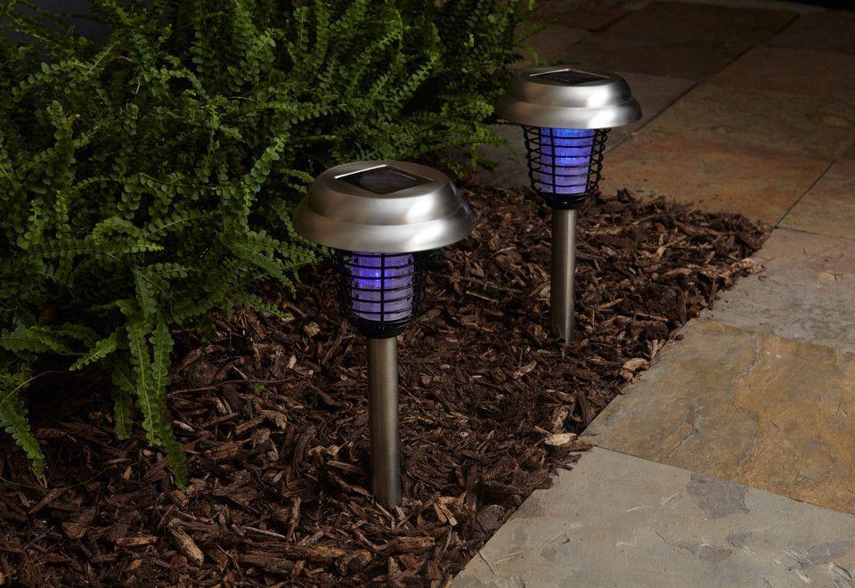 LED Solar Stick Bug Zapper 2 pack - SO-SI001A-2PK by Sharper Image