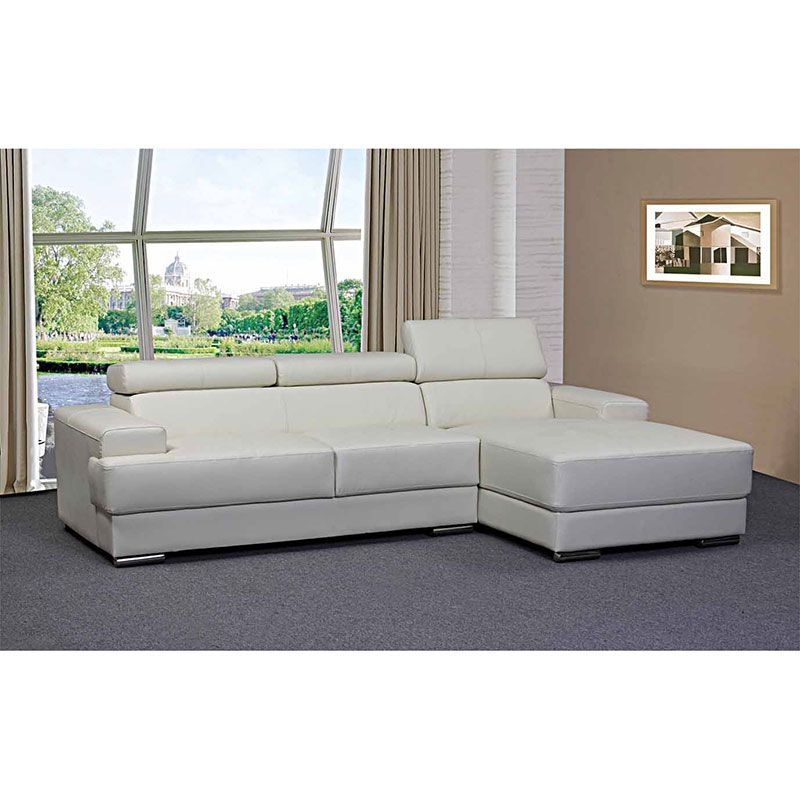 Emery Sofa With Chaise With Images Sofa White Sofas Modern Sofa