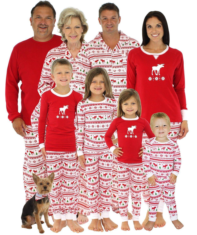 SleepytimePjs Kids Family Matching Pjs OVERALL Top/Printed Pants-2T ...