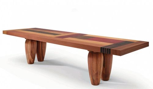 Designer Wood Tables - multi-wood dining tables by Linteloo