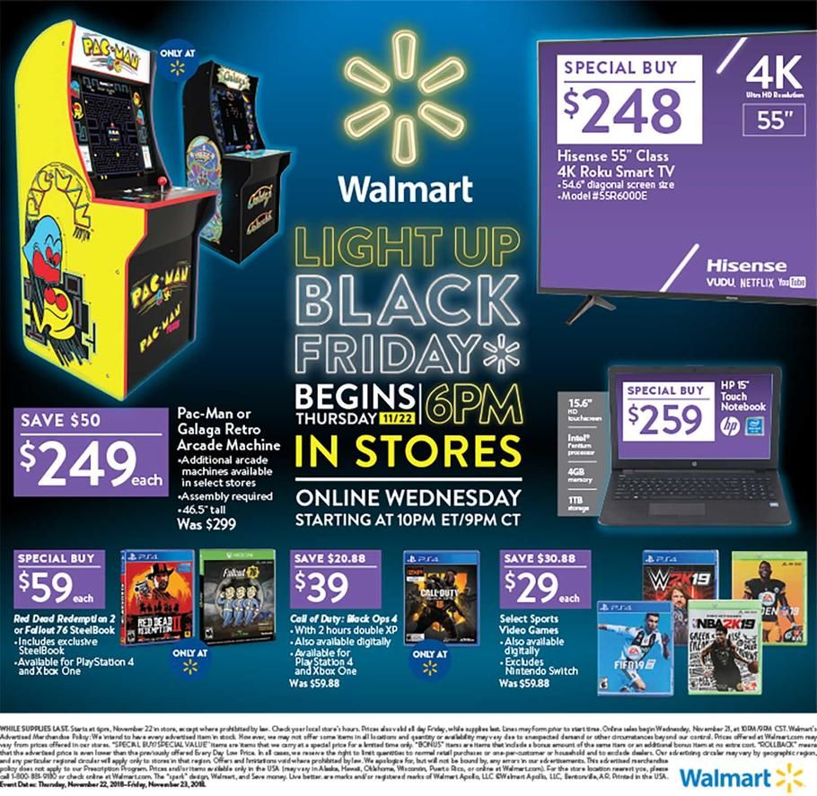 Walmart Black Friday 2018 Ads Scan Deals And Sales See The Walmart Black Friday Ad 2018 At 101blackfrida Walmart Black Friday Ad Black Friday Black Friday Ads