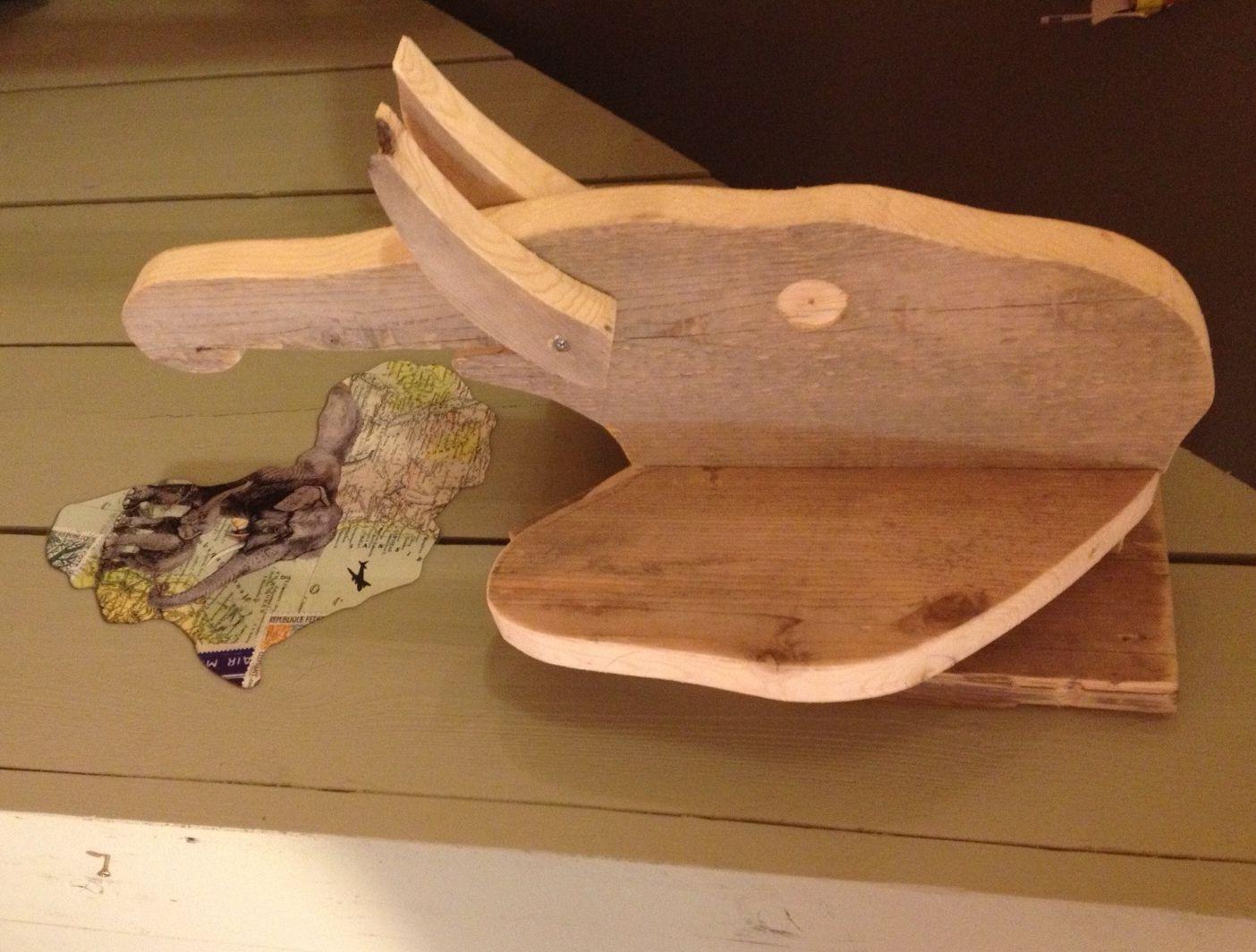 Cabeza de elefante de madera accesorios pinterest for Muebles elefante