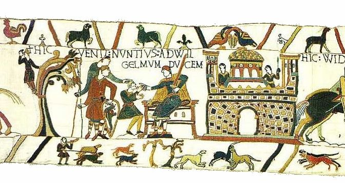 Bayeuxtapestryscene12 Jpg Bayeux Tapestry Tapestry William The Conqueror