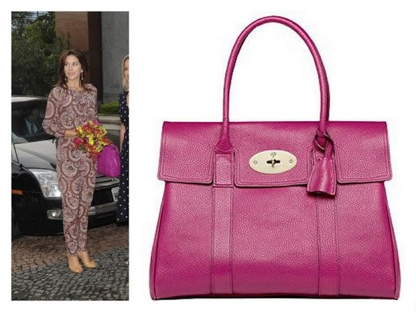 Crown Princess Mary and Mulberry Bag #mulberrybag